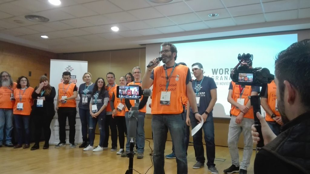 los voluntarios de la WOrdCamp Granada 2018